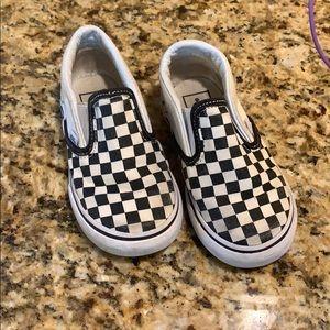 Toddler size 7 checkered Vans